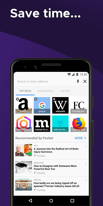 Android Firefox Browser fast & private Screen 4