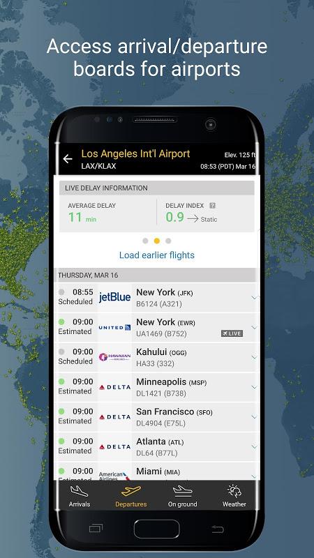 Android Flightradar24 Flight Tracker Screen 3