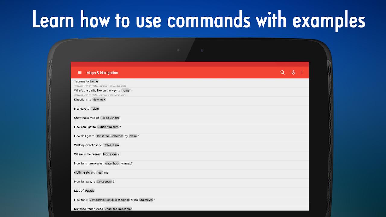 OK Google Voice Commands (Guide) 4.2.000 Screen 8