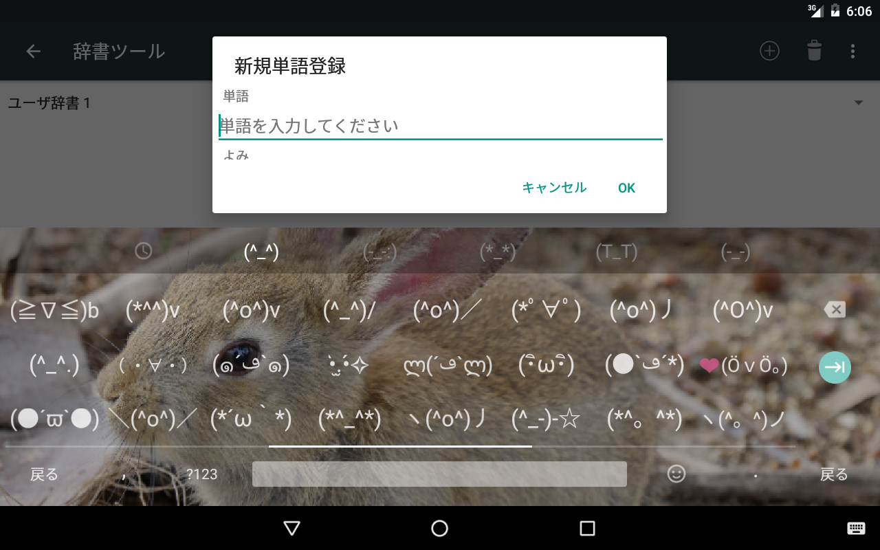 Android Google Japanese Input Screen 10