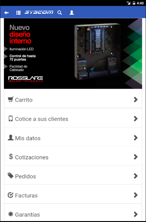 Android SYSCOM para Android Screen 6