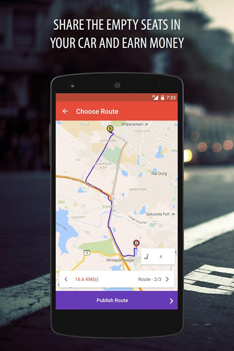 Android Zify - Safe & Flexible Carpool Screen 3