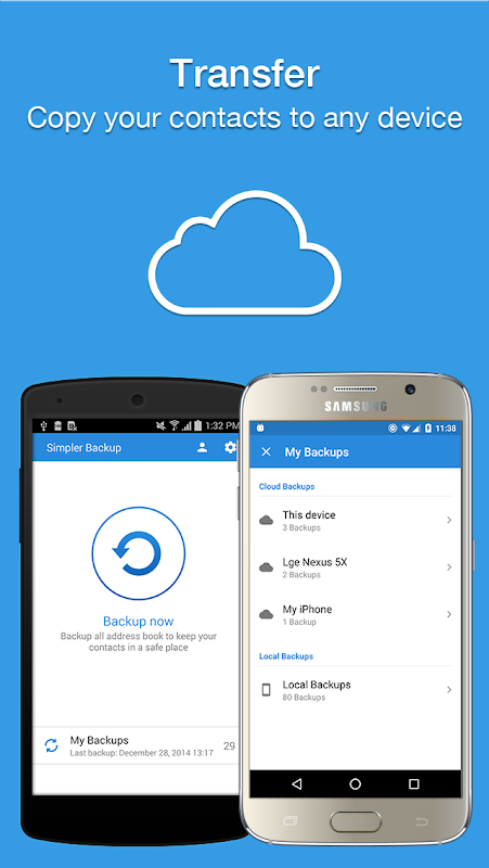 Easy Backup - Contacts Export and Restore 8.9.8 Screen 5
