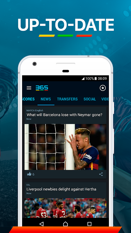 365Scores: Sports Scores Live 5.1.3 Screen 9