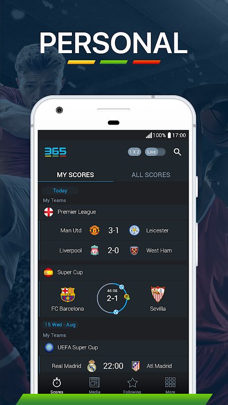 Android 365Scores - Live Score Screen 6