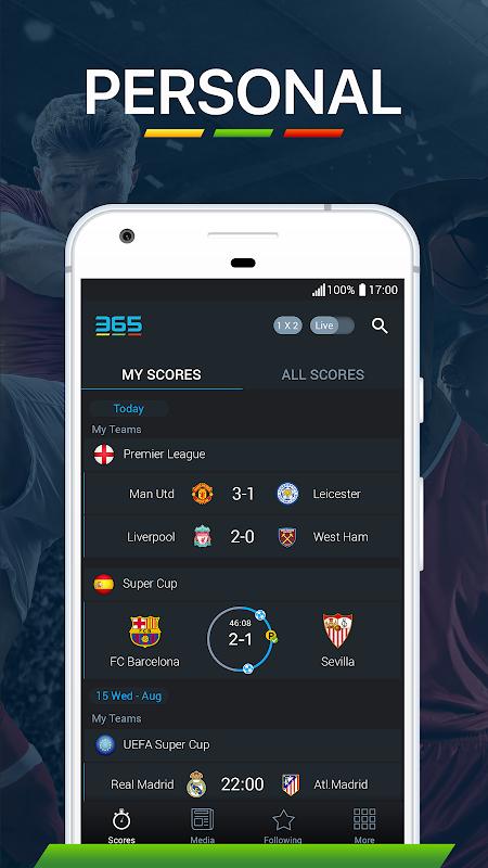 365Scores - Live Score 5.8.1 Screen 6