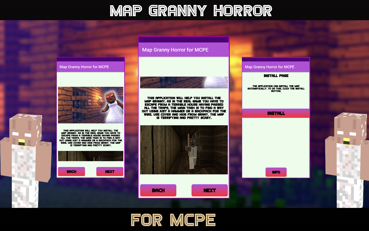 Android Horror Map for MCPE - Granny Screen 1