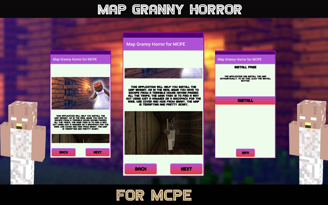 Horror Map for MCPE - Granny 1.0 Screen 1