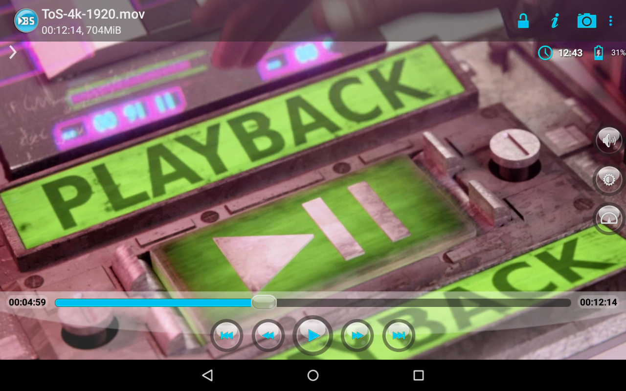 Android BSPlayer Screen 7