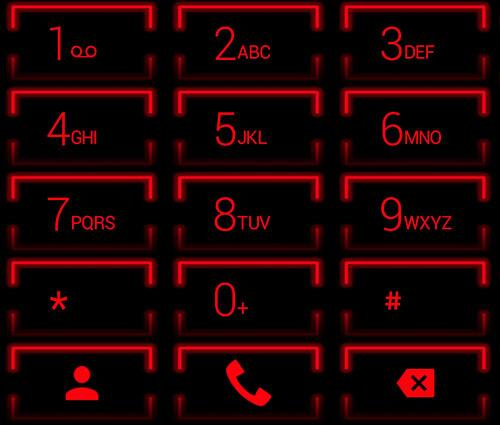 Theme for ExDialer Neon Red 2.0 Screen 6