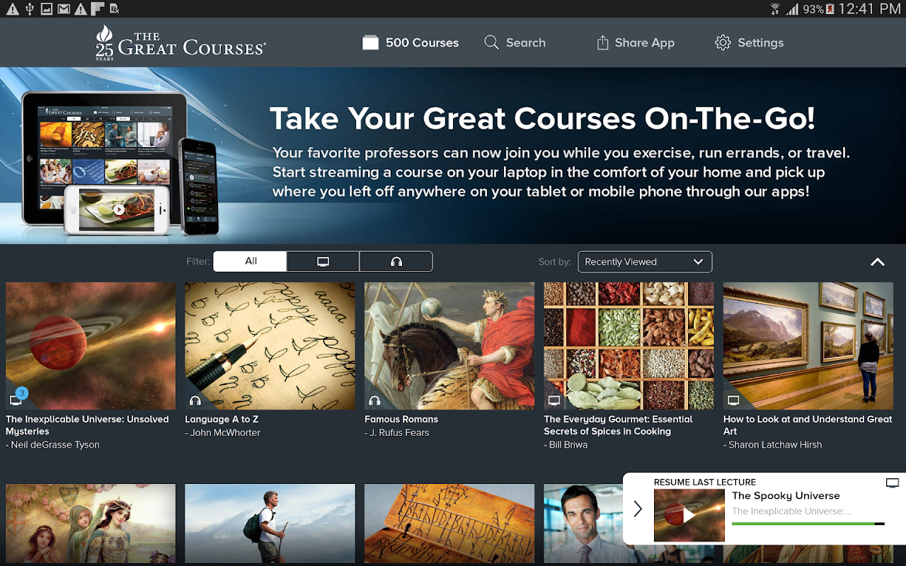 Android The Great Courses Screen 8