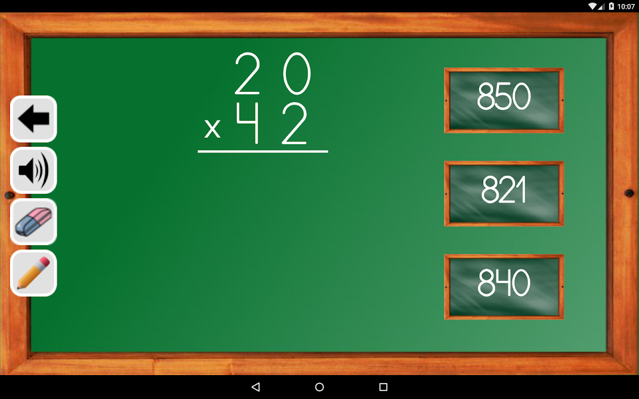 Android Maths Trainer Screen 22