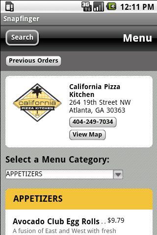 Snapfinger Restaurant Ordering 2.0.1 Screen 1