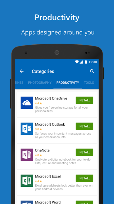 Microsoft Apps 3.2.1 Screen 1