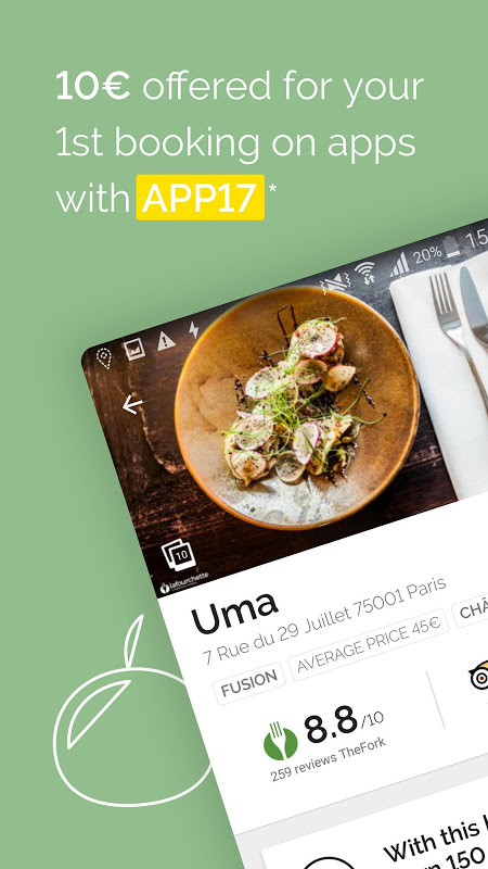 Android TheFork - Restaurants booking Screen 10