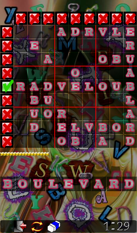 Android Wordoku Frenzy Puzzle Screen 2