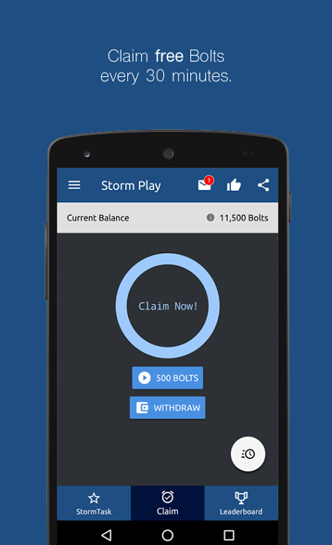 Android Storm Play Screen 4