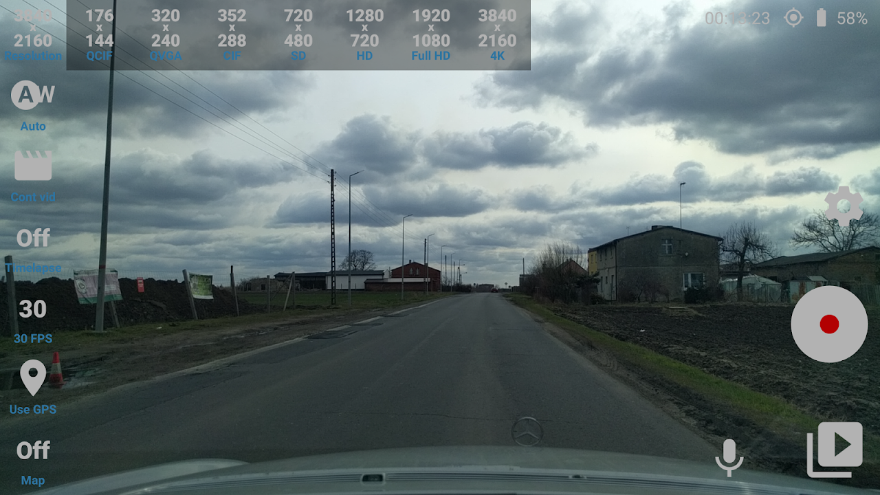 Android Car Camera Pro Screen 1