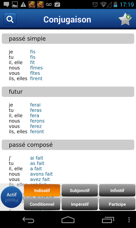 French Larousse dictionary 5.0.1 Screen 4