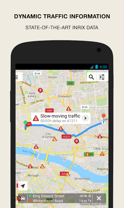 Android GPS Navigation & Maps - Scout Screen 2