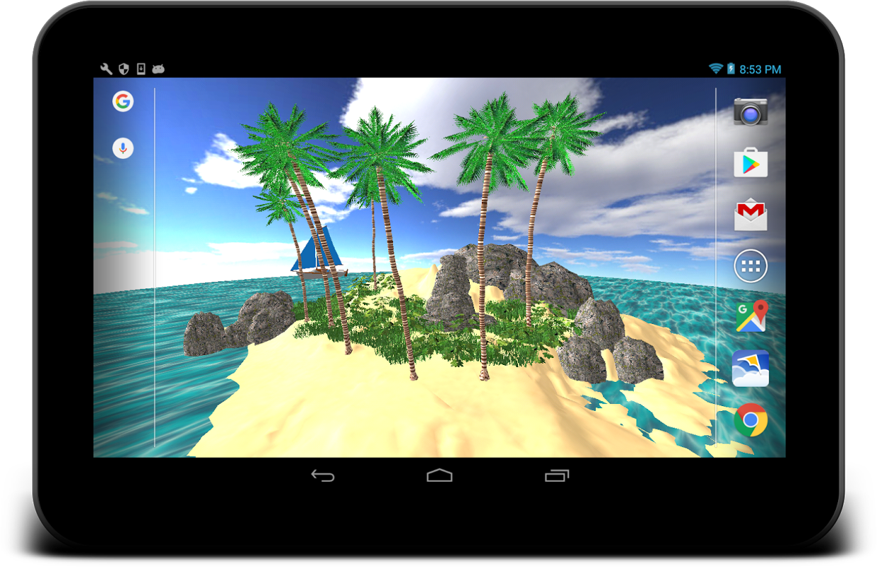 3D Tropical Island wallpaper 1.13 Screen 3