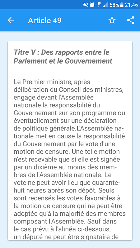 French Constitution 1.0 Screen 2