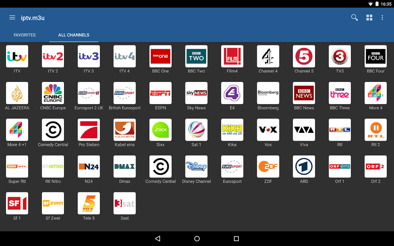 Android IPTV Screen 7