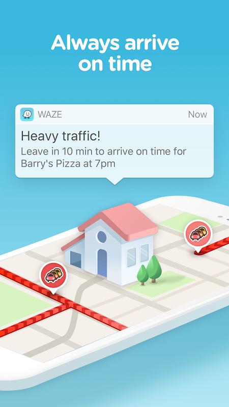 Android Waze - GPS, Maps, Traffic Alerts & Sat Nav Screen 1