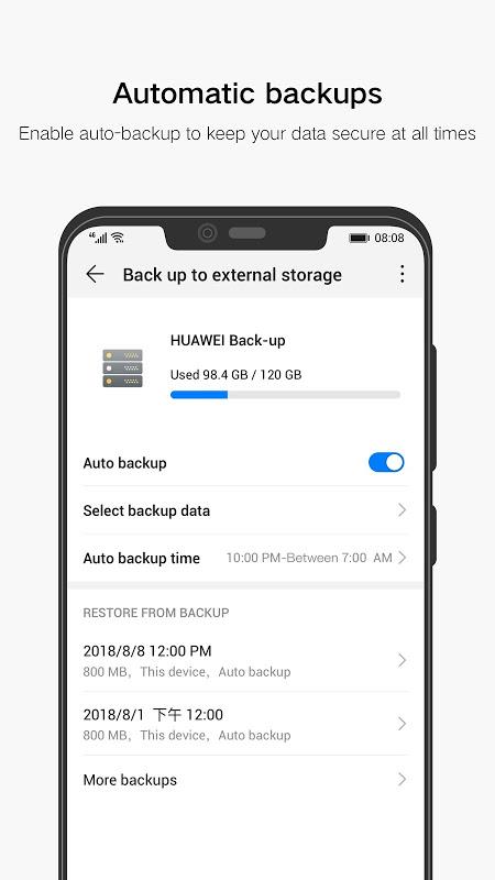 Huawei Backup 10.0.0.350_OVE Screen 2
