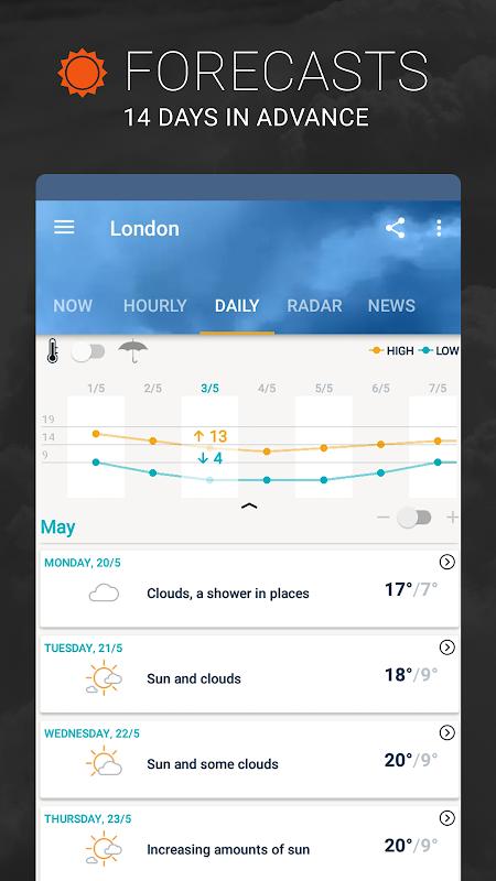 AccuWeather: Weather Forecast & Local Rain Alerts 5.8.0.4-free Screen 3