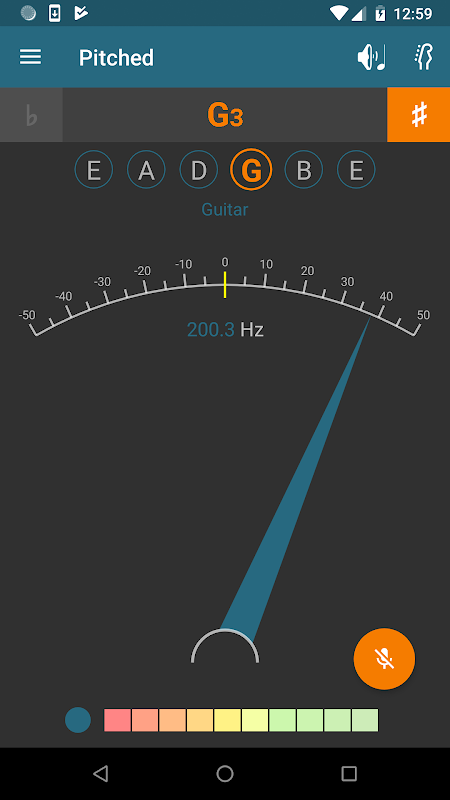 Pitched Tuner 2.4.1 Screen 1