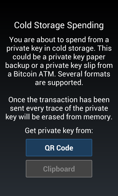 Android Mycelium Bitcoin Wallet Screen 4