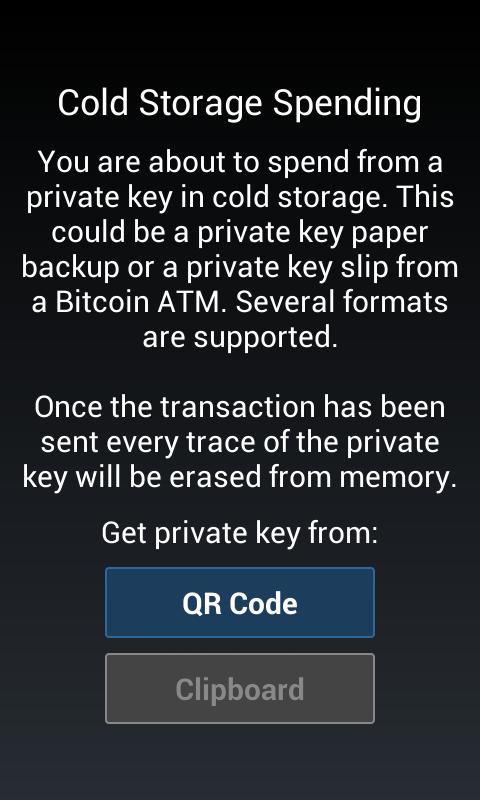Android Mycelium Bitcoin Wallet Screen 4