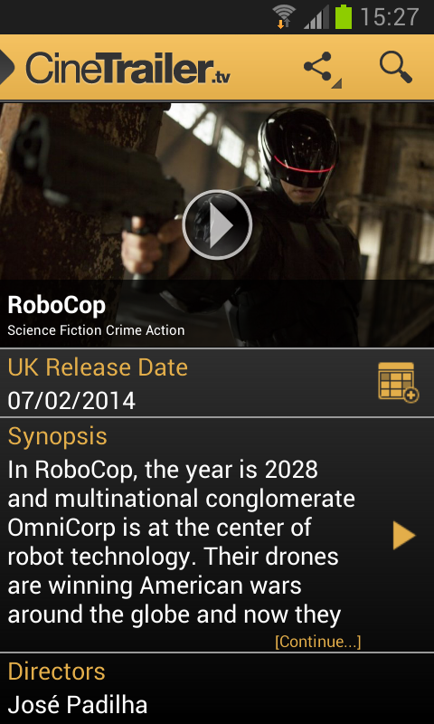 Android CineTrailer Cinema & Showtimes Screen 14