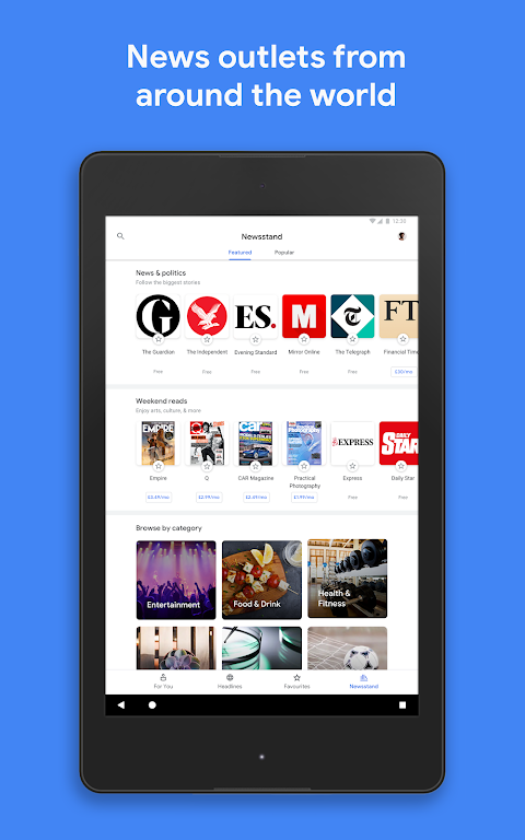 Android Google Play Newsstand Screen 7