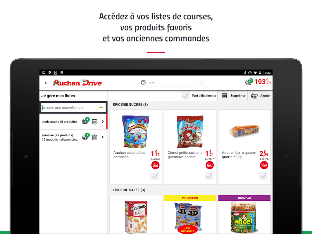 Android AuchanDrive - courses drive Screen 10