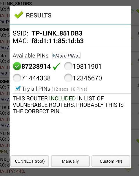 Wifi WPS Plus 3.2 Screen 1