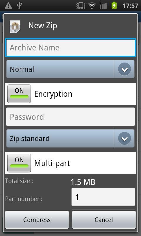 Easy Unrar, Unzip & Zip 3.4 Screen 8
