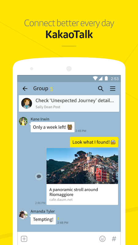 Android KakaoTalk: Free Calls & Text Screen 1