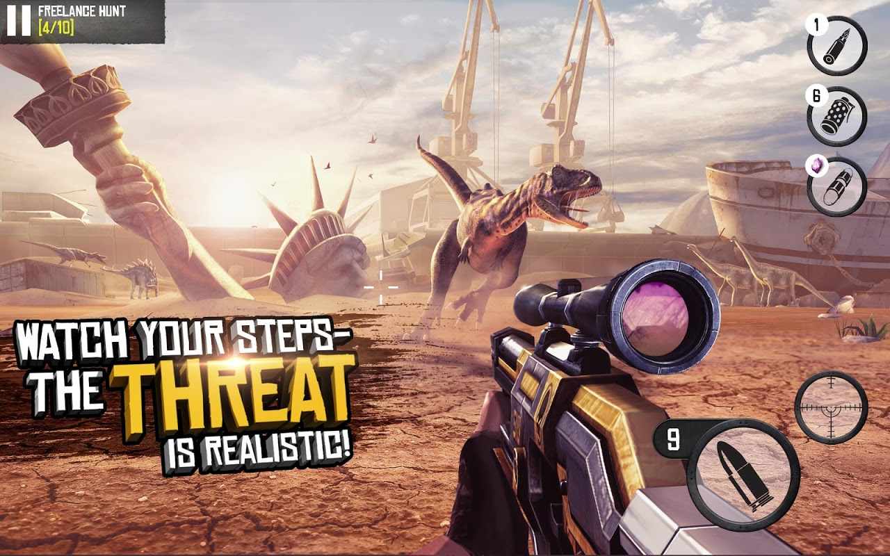 Android Best Sniper Legacy: Dino Hunt & Shooter 3D Screen 1