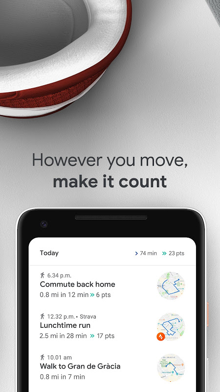 Android Google Fit: Health and Activity Tracking Screen 3