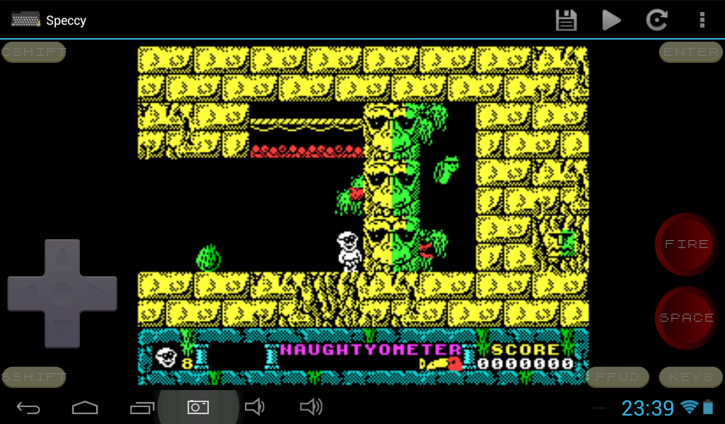 Speccy - ZX Spectrum Emulator 4.1 Screen 1