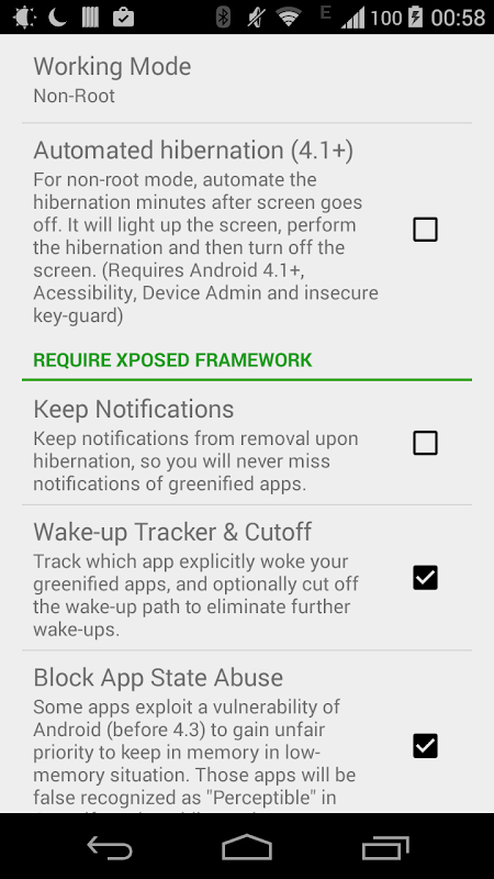 Android Greenify Screen 3