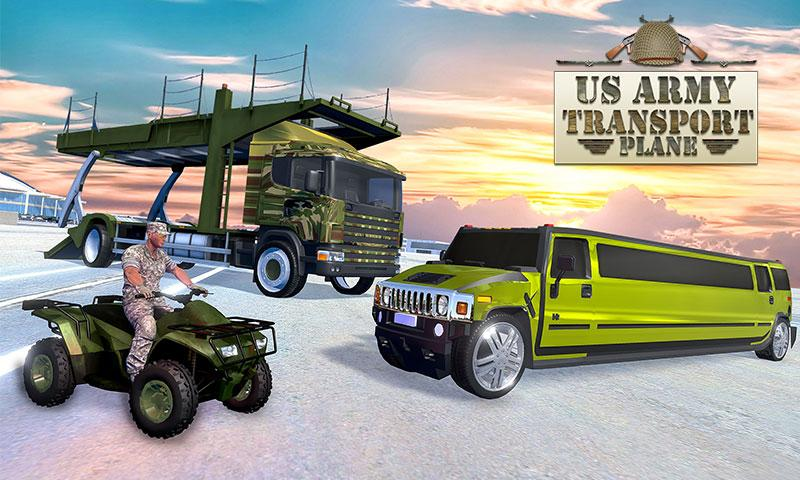 Android US Army ATV Quad Bike & Limo Car Plane Transporter Screen 4