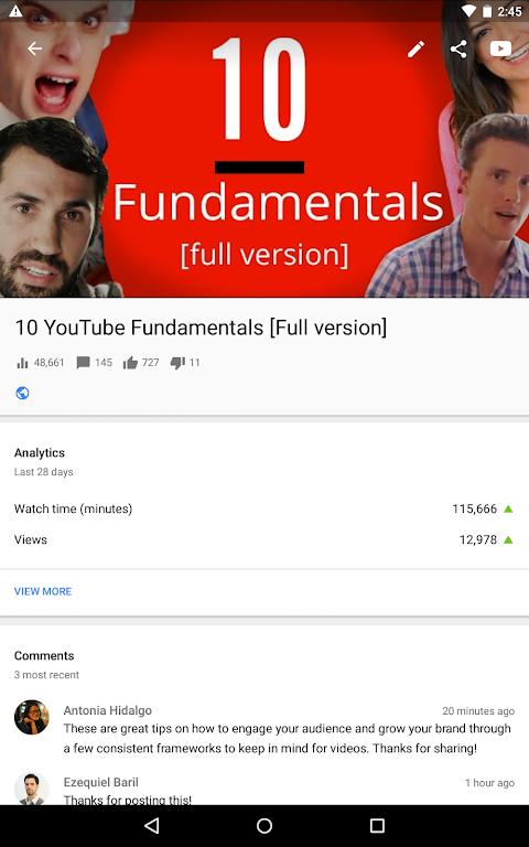 YouTube Studio 18.48.100 Screen 11