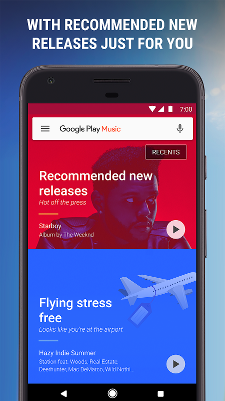 Android Google Play Music Screen 2