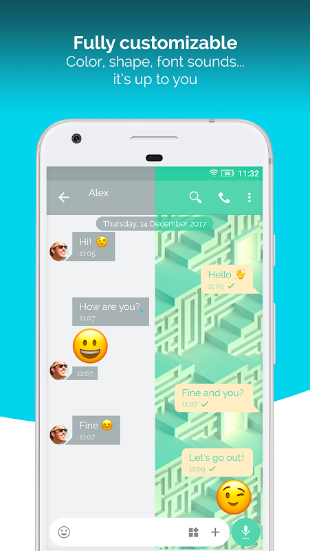 Android Mood Messenger - SMS & MMS Screen 1