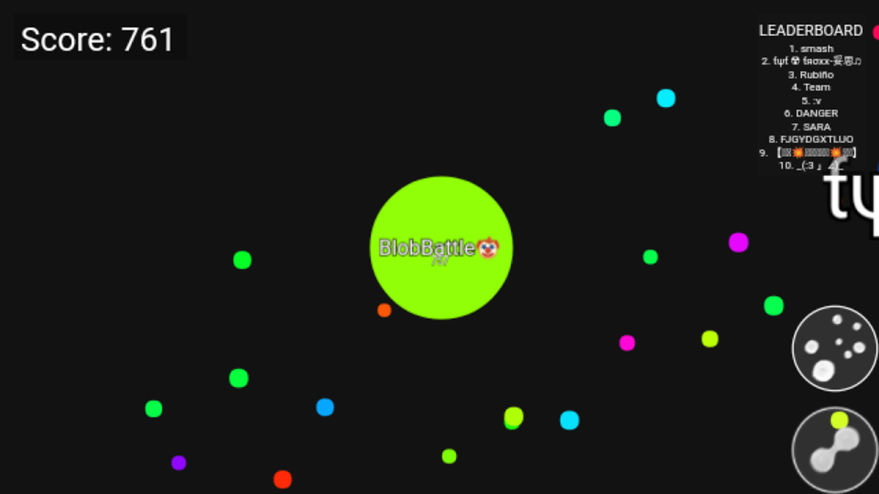 Blob Battle .io - Multiplayer Agar Action Game 1.1.4.010 Screen 1