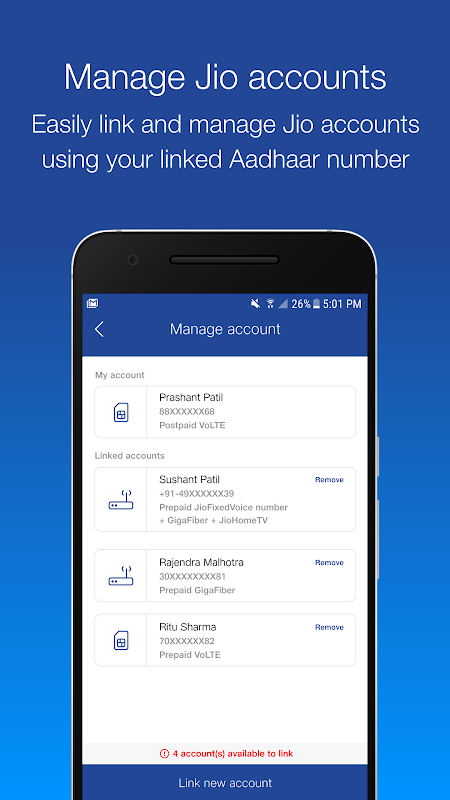 Android MyJio Screen 6