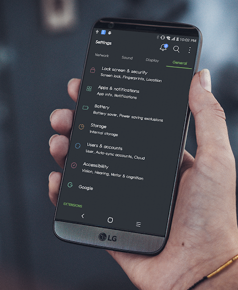 MIUI Dark Theme LG V30 V20 G6 G5 2 0 APK Download by WSTeams